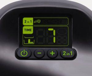el display de la tefal actifry nos permite controlar los programas de cocción, el tiempo y la temperatura