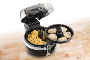 una de las principales características de la actifry es poder cocinar a dos niveles