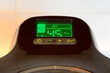 display de la freidora sin aceite tefal actifry 2 en 1