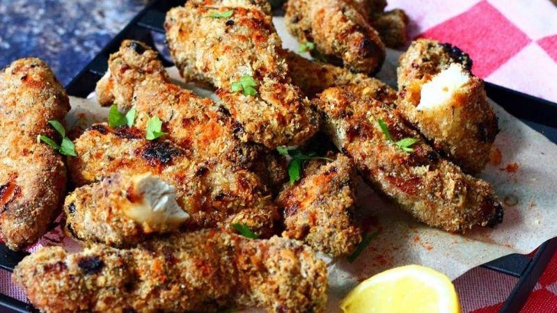 Receta muslos de pollo con salsa barbacoa con freidora sin aceite