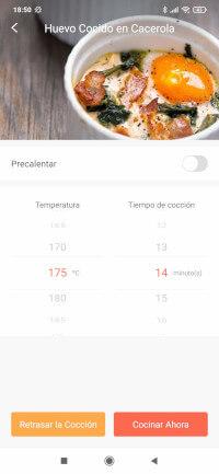 Elegimos temperatura y tiempo de cocción de la receta huevo cocido en cacerola