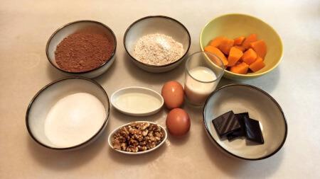 ingredientes para preparar brownie en freidora cosori