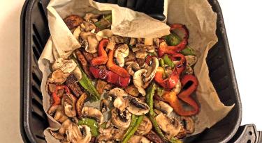 Boquerones con patatas y verduras con freidora sin aceite 6