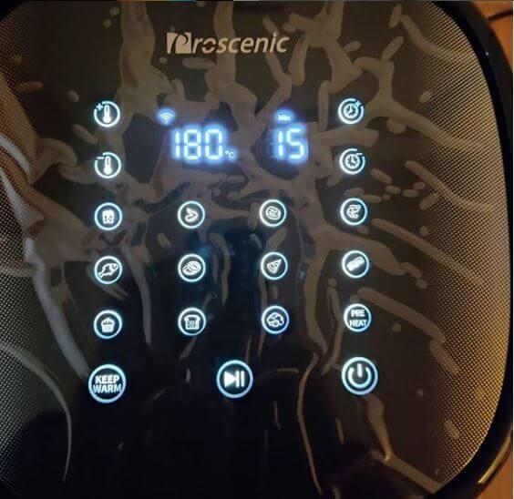 display freidora de aire Proscenic T22