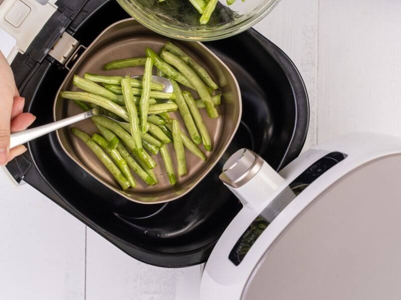 verduras congeladas cocinadas en airfryer